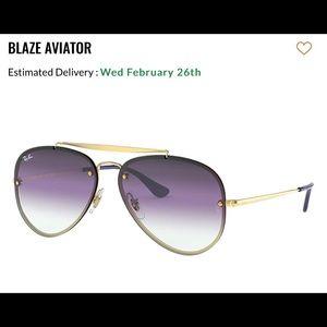 Ray ban Blue/Gold Blaze Aviators